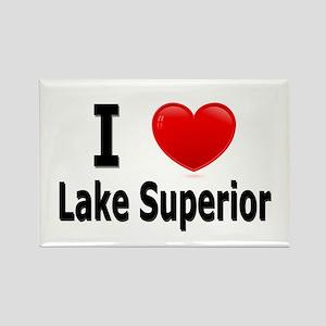 I Love Lake Superior Rectangle Magnet