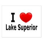 I Love Lake Superior Small Poster