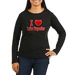 I Love Lake Superior Women's Long Sleeve Dark T-Sh
