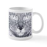 Vigilant Cat (blue) Mug