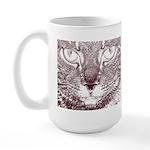 Vigilant Cat Large Mug