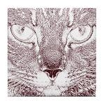 Vigilant Cat Tile Coaster