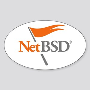 NetBSD Devotionalia + TNF Support Oval Sticker