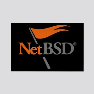 NetBSD Devotionalia + TNF Support Rectangle Magnet
