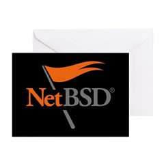 NetBSD Devotionalia + TNF Support Greeting Cards (