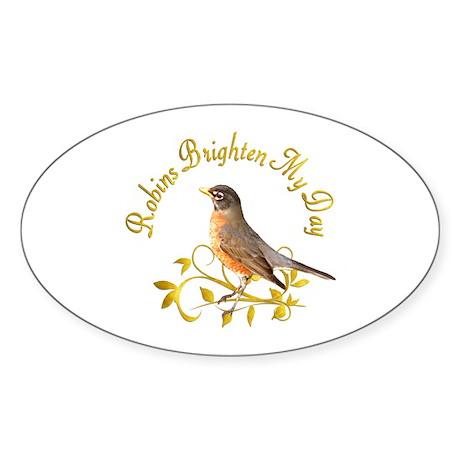 Robin Oval Sticker (50 pk)