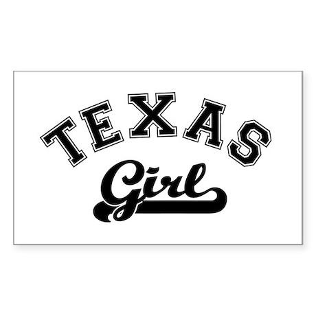 Texas Girl Rectangle Sticker