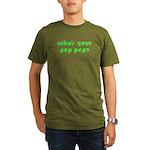 Who's Your Pep Pep? Organic Men's T-Shirt (dark)