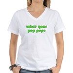 Who's Your Pep Pep? Women's V-Neck T-Shirt