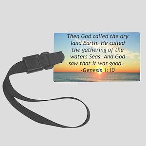 GENESIS 1:10 Large Luggage Tag