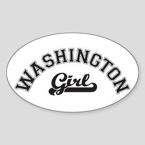 Washington Girl Oval Sticker