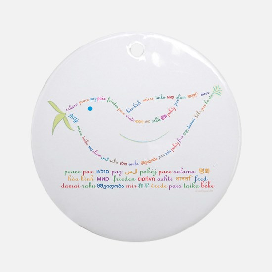 Peace Dove Ornament (Round)