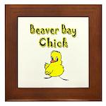 Beaver Bay Chick Framed Tile