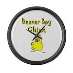 Beaver Bay Chick Large Wall Clock