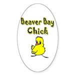 Beaver Bay Chick Oval Sticker (10 pk)