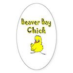 Beaver Bay Chick Oval Sticker (50 pk)