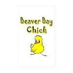 Beaver Bay Chick Rectangle Sticker 10 pk)
