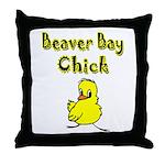 Beaver Bay Chick Throw Pillow