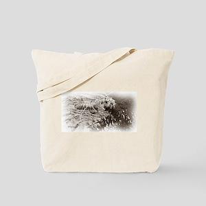 Sepia Tiger Tote Bag