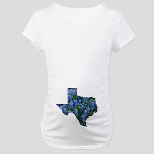 TX Bluebonnets Maternity T-Shirt