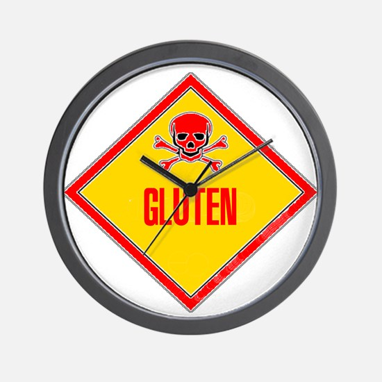 Gluten Poison Warning Wall Clock