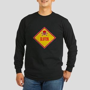 Gluten Poison Warning Long Sleeve Dark T-Shirt