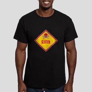 Gluten Poison Warning Men's Fitted T-Shirt (dark)