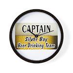 Silver Bay Beer Drinking Team Wall Clock