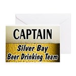 Silver Bay Beer Drinking Team Greeting Cards (Pk o