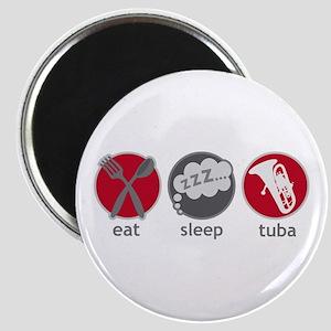 Cool Eat Sleep Tuba Music Magnet