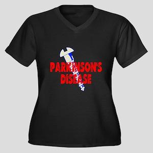 Screw Parkinson's Disease Women's Plus Size V-Neck