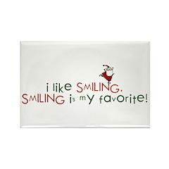 i like smiling Rectangle Magnet