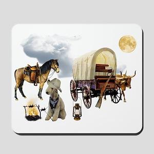 Cowboy Bedlington Terrier Mousepad