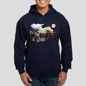 Cowboy Bedlington Terrier Hoodie (dark)