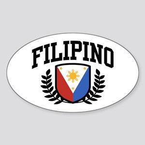Filipino Oval Sticker