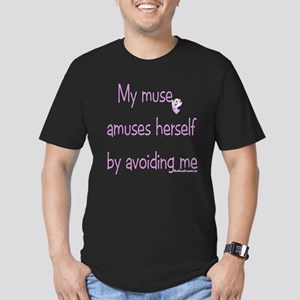 Muse Abuse Pink 1 Men's Fitted T-Shirt (dark)