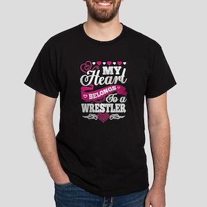 My Heart Belongs To A Wrestler T Shirt T-Shirt