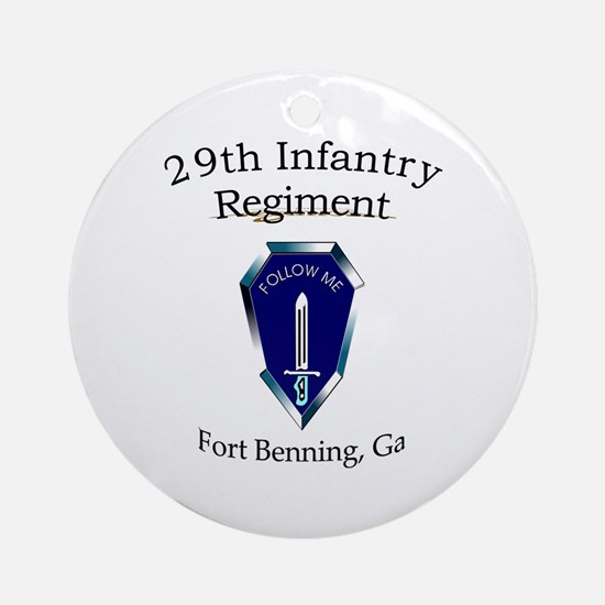 29th Infantry Regiment Ornament (Round)
