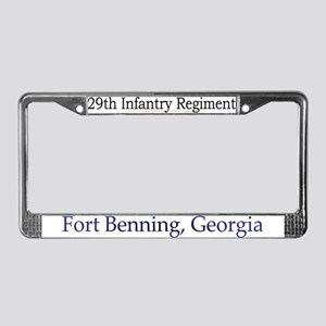 29th Infantry Regiment License Plate Frame