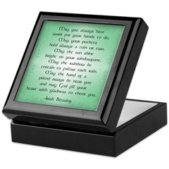 irish blessing (sq) Keepsake Box