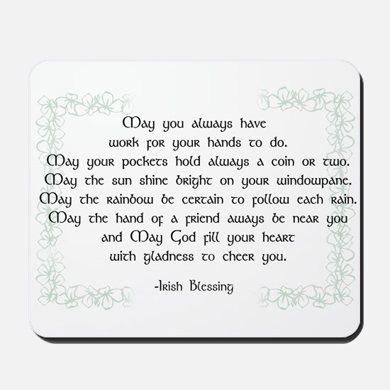 irish blessing (sq) Mousepad