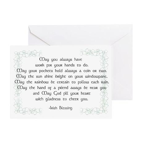 irish blessing (sq) Greeting Card