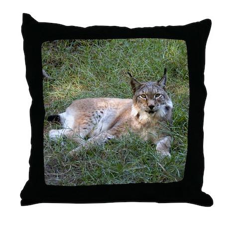 Siberian Lynx Throw Pillow