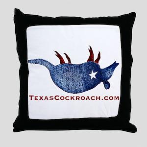 Texas Cockroach Armadillo Throw Pillow