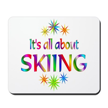 Skiing Mousepad