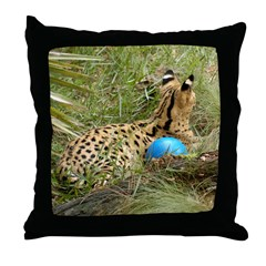 Serval Throw Pillow