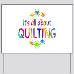 Quilting Yard Sign