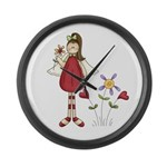 Flower Angel D1 Large Wall Clock