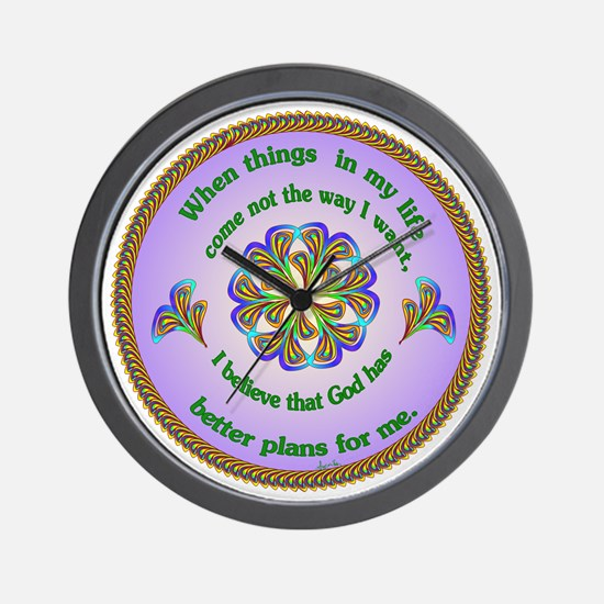 Quotations - Affirmations Wall Clock