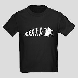 Evolution of Drumming Kids Dark T-Shirt